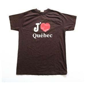 Vintage I Love Quebec Canada Single Stitch T Shirt